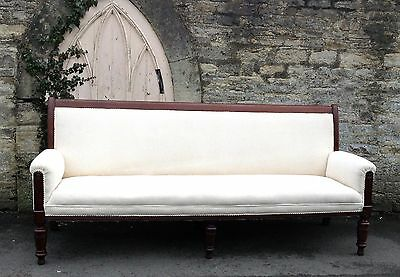 ANTIQUE 19th CENTURY ENGLISH COUNTRY HOUSE MAHOGANY SOFA, SETTLE SETTEE SEATING