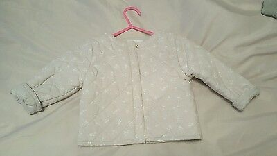the little white company baby girl jacket 9-12 months