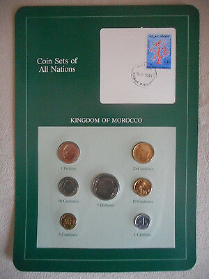 Franklin Mint Coin Sets Of All Nations - Morocco - Maroc - Mint Uncirculated