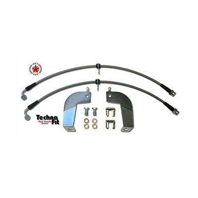Stainless Steel Braided Brake Lines REAR Techna-Fit Set Fits Mustang MUST-1110RR
