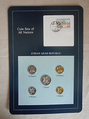 Franklin Mint Coin Sets Of All Nations - Syria Arab Republic - Mint Uncirculated