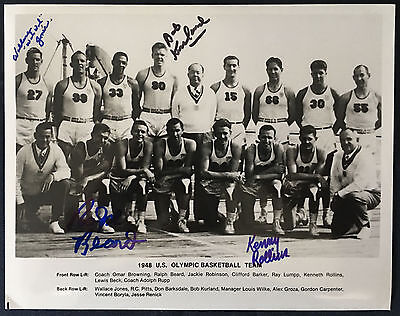 1948 Olympic Basketball Team Photo Signed by Four Gold Medalists