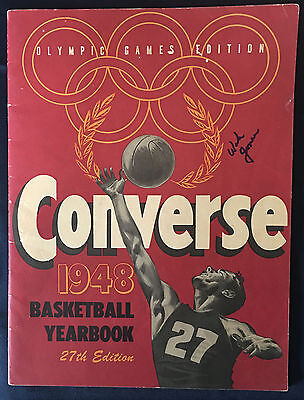 1948 Converse Olympic Games Yearbook signed Gold Medalist Wah Jones Kentucky