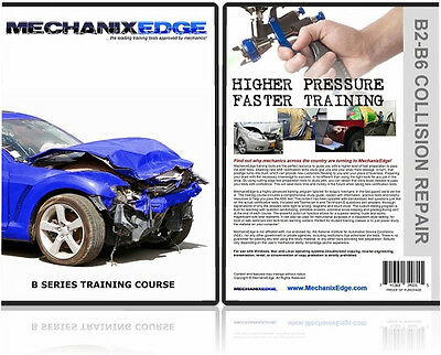 ASE B2-B6 Paint & Body Certification TEST PREP Study Guide Collision Repair CD