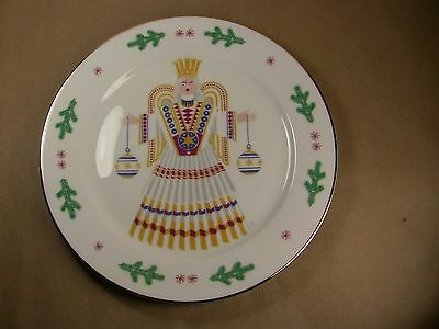 COLLECTIBLE GILDED HOLIDAY PLATE H&Co. SELB BAVARIA GERMANY PORCELINE ANGEL