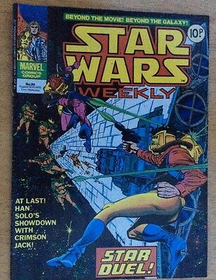Marvel Star Wars Weekly 30 Comic 1978 Very Good Condition August 30th
