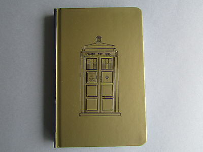 Doctor Who TARDIS Mini JOURNAL Pocket Sized COLLECTIBLE Notebook GOLD Black