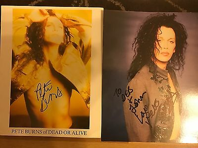 Pete Burns Signed