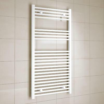 White Steel Heated Home Bath TOWEL WARMER RADIATOR Dryer Sterilisers Rail Racks