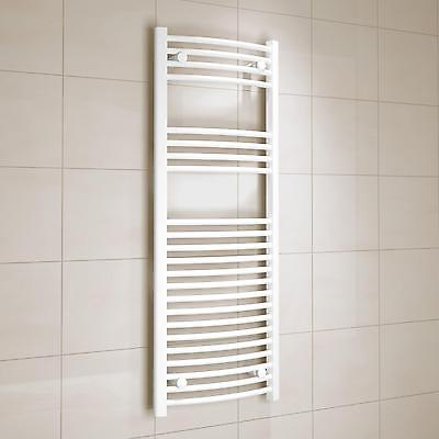 White Steel 10 Rail Bar TOWEL WARMER Heats Towels Bathroom Interior Decor Design