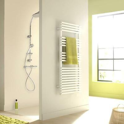 White TOWEL WARMER Rack Bar Bathroom Wall Mounted Drying Hand Face Towels Design