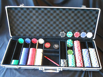 Poker Casino Set with Aluminum Carrying Case + 222 Clay Playing Chips