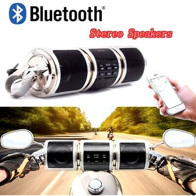 Bluetooth Motorcycle Handlebar Audio Systems Amplifier Stereo Speaker