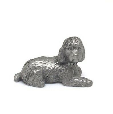 Vintage Rawcliffe Pewter poodle Dog RARE COLLECTIBLE FIGURE