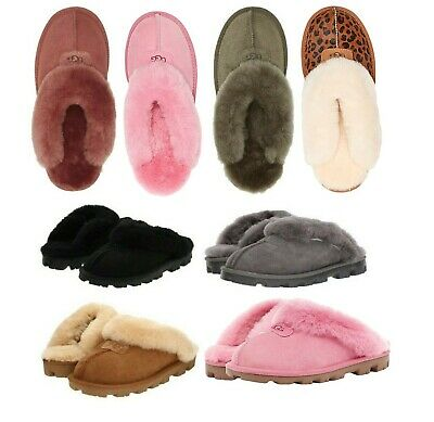 UGG Women's Shoes Coquette Soft Cozy Slippers Sandals Black Chestnut Grey Pink