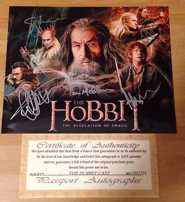 The Hobbit Hand Signed Cast Photo Autograph With COA Certificate Authentic
