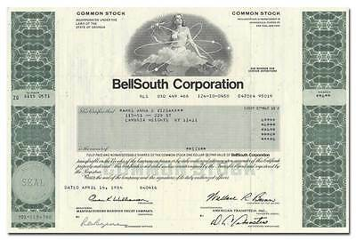 BellSouth Corporation Stock Certificate