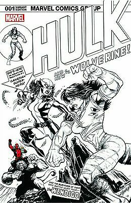 Hulk #1 Ed McGuinness Exclusive Sketch Variant Marvel Comics 2016 Pre-Sale X-23