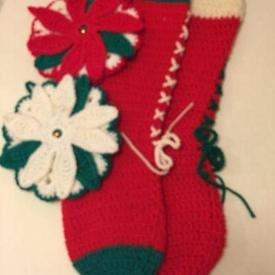 2 Knitted Christmas Stockings
