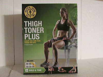 Gold's Gym EXERCISE THIGH TONER PLUS New In Box, With Exercise Chart