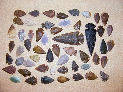 50+ Arrowhead collection Part of Huge Texas Estate stone flint bs-art 1-1600