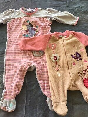 Baby Girl Clothes Suits Size 1 and 000 Piglet Pooh bear Disney