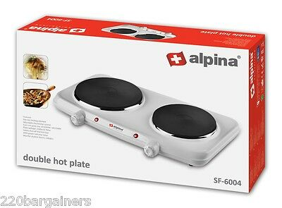Alpina NEW 220 Volt Double Hot Plate Burner 220V Overseas Use