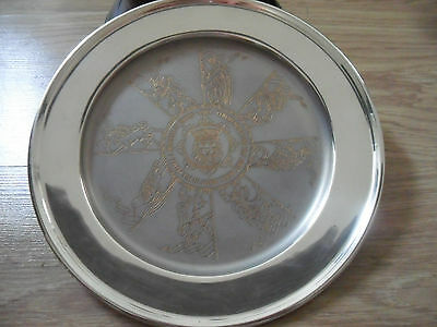 """925,solid Silver Salver/tray,the First Royal Birth"""" Prince William,1982,303,gms,"""