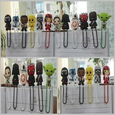 12pcs Star Wars Paper Clips Bookmarks School Supplies Stationery Gifts NO.4057A