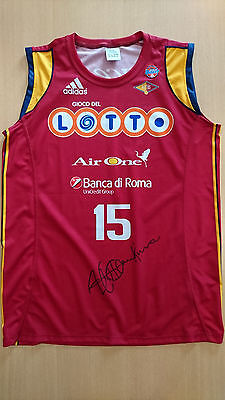 Camiseta canotta Basketball jersey David Hawkins Virtus Roma signed match worn