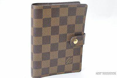 Authentic Louis Vuitton Damier Agenda PM Day Planner Cover R20700 LV 26913
