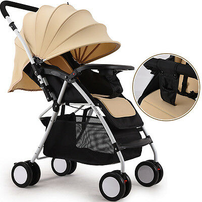 Hot Baby Stroller Deluxe Steel Pipe Outdoor Garden Infant Carriage Pushchair