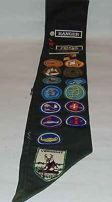 vintage 7th day adventist pathfinder sash with patches and pins