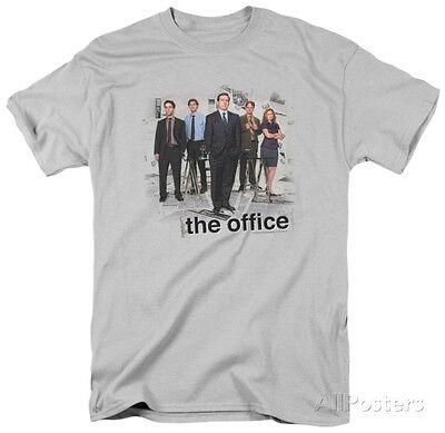 The Office-Cast Apparel T-Shirt - Silver