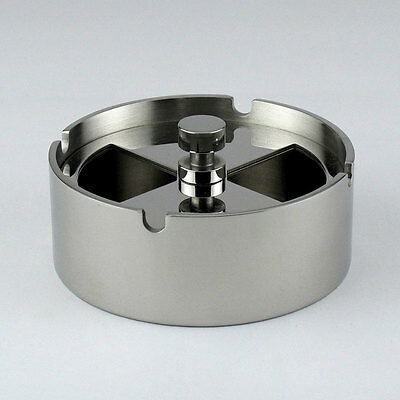 Creative Stainless Steel Ashtray Rotating Sealable Windproof ashtras Decor 8050U