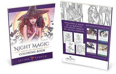Selina Fenech Night Magic Gothic & Halloween Colouring Book