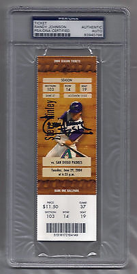 Randy Johnson signed autographed 4,000th strike out FULL TICKET! June 29, 2004