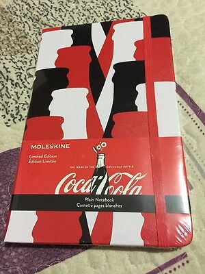 Moleskine COCA-COLA Limited Edition Notebook 240 Plain Pages New Sealed