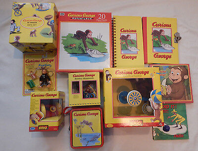 11 Pc. Curious George Assorted Collectible Items Lot #2