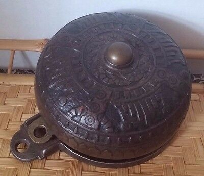 Victorian Eastlake Cast Brass Door Bell Clang Steampunk Mechanical no pulley