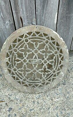 Antique cast iron air vent wall art floor grate heat register old gothic vintage