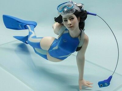 (W_2038)1/10 Diver Girl Unpainted Resin Figure Kit