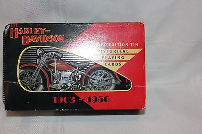 Harley Davidson Limited Edition Tin And Playing Cards 1903 - 1950 ~ New