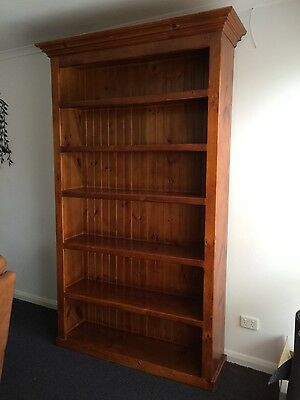 Solid pine book case - very heavy. Very good condition