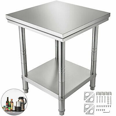 "24"" x 24"" Stainless Steel Work Prep Table with Backsplash Kitchen Restaurant New"
