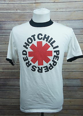 Red Hot Chili Peppers Classic White/Black Ringer T-Shirt Adult Small