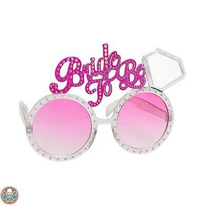 Smiffys Tg: One Size Rosa Bride To Be Occhiali Nuovo