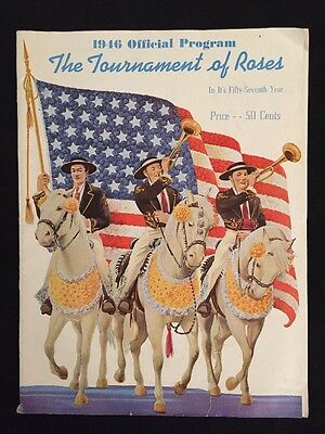 1946 OFFICIAL PROGRAM for the TOURNAMENT OF ROSES