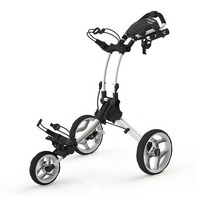 New Clicgear Rovic Rv1C Golf Push Cart - White/white