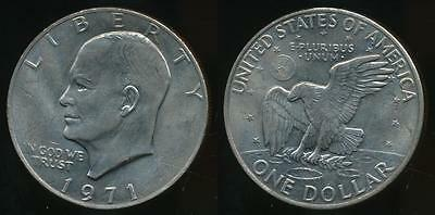 United States, 1971 One Dollar, $1, Eisenhower - almost Uncirculated